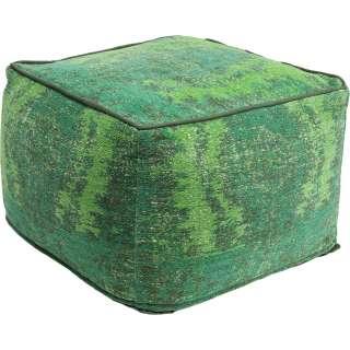 Hocker Kelim Ornament grün