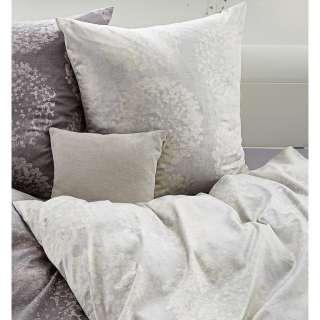 Couch in Beige Blau kariert Schlaffunktion