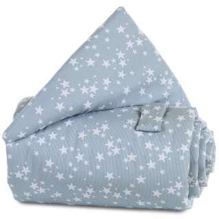 Verschlussgitterschutz Pique Babybay Blau, Weiß