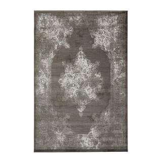 EEK A++, Deckenleuchte Magnolia - Glas / Eisen - 2-flammig - 35 - Weiß / Weißgrau, Brilliant