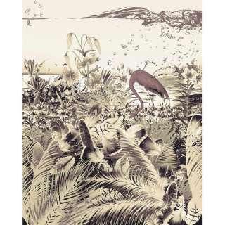 Leinwandbild Elephant - Leinwand - Beige / Grün - 45, ars manufacti
