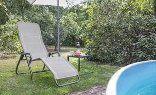 Relaxliege  Bito ¦ grau ¦ Maße (cm): B: 72 H: 118 Garten > Gartenmöbel > Gartenliegen - Höffner