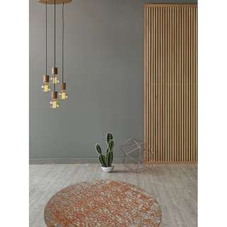 EEK A++, Tischleuchte Jeff I - Metall / Kautschukbaum massiv - 1-flammig, Globo Lighting