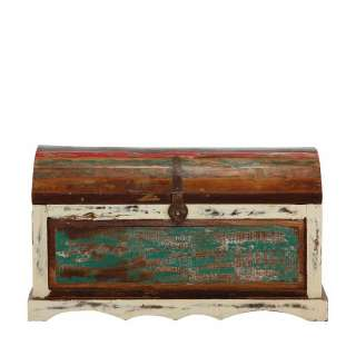 Shabby Chic Holztruhe in Bunt Recyclingholz