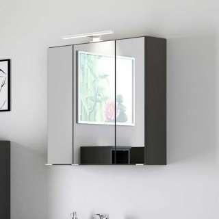 Badezimmer Spiegelschrank in Dunkelgrau 3-türig