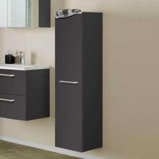 Badezimmer Seitenschrank in Dunkelgrau 30 cm breit