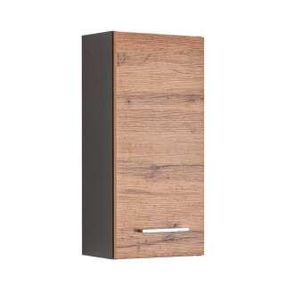 Badezimmer Oberschrank in Wildeichefarben und Dunkelgrau 1-türig