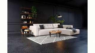 Couch Hocker in Beige modern