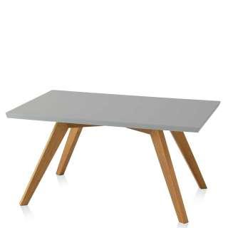 Wohnzimmer Tisch in Grau und Eichefarben Retro Design
