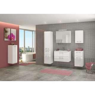 Badezimmer Waschbeckenschrank mit Spiegel Eiche