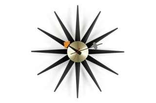 Vitra - Sunburst Clock - schwarz - indoor