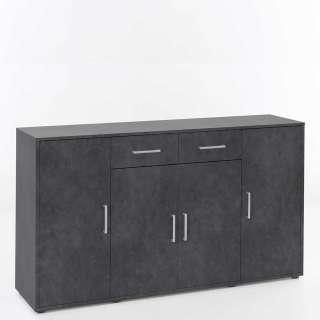 Tagesbett Levi mit Schubladen Weiß/Grau 90x200cm inkl. Rollrost, Bopita,