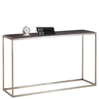 Flur Tisch in Dunkelbraun und Messingfarben 80 cm hoch