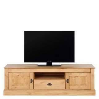 TV Schrank aus Kiefer Massivholz Landhaus Design