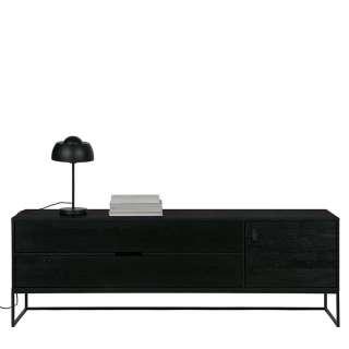 Design Lowboard in Schwarz 180 cm breit