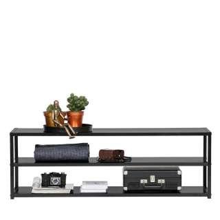 TV Bank in Schwarz 120 cm breit