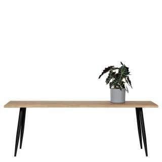 Esstisch mit Massivholzplatte 4-Fußgestell aus Metall