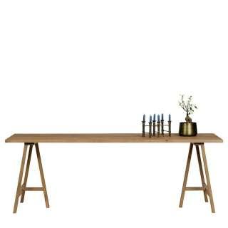 Echtholztisch aus Eiche Massivholz geölt und gebürstet