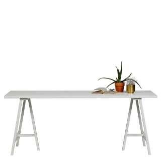 Esszimmertisch in Weiß Esche Massivholz