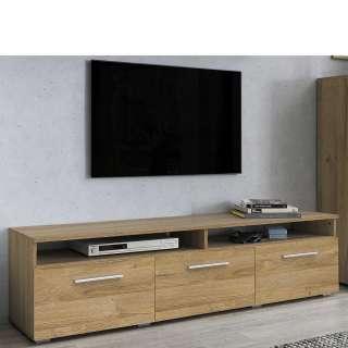 TV Board in Eichefarben Klappe