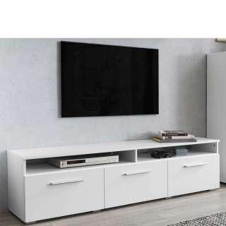 TV Lowboard in Weiß Klappe