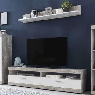 Wohnmöbel Set in Beton Grau und Weiß Made in Germany (2-teilig)
