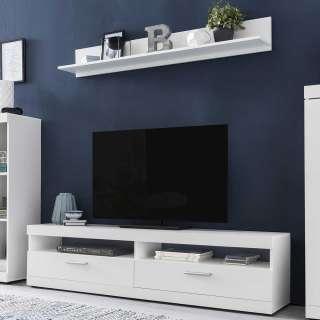Wohnzimmermöbel Set in Weiß 160 cm breit (2-teilig)