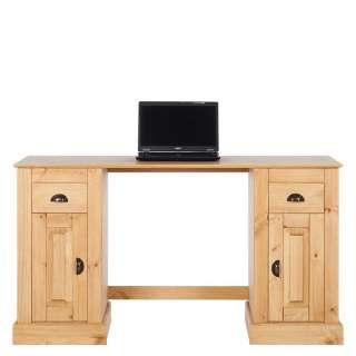 Landhaus Schreibtisch aus Kiefer Massivholz 140 cm breit