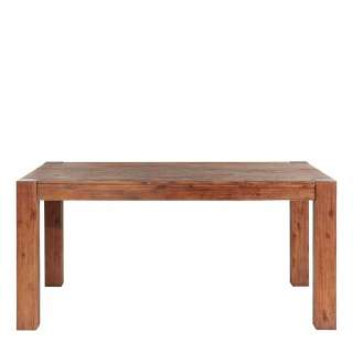 Massivholztisch aus Akazie lackiert 160 cm breit
