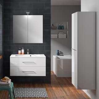 Badezimmer Waschbeckenschrank in Buche hell 80 cm breit