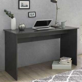 Büro Schreibtisch in Dunkelgrau Wangengestell