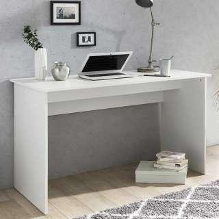 Wangen Bürotisch in Weiß 125 cm breit
