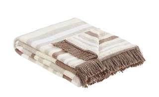 LAVIDA Jacquard-Decke  Streifen ¦ braun ¦ 60% Baumwolle, 40% Polyacryl ¦ Maße (cm): B: 150 Heimtextilien > Kuscheldecken - Höffner