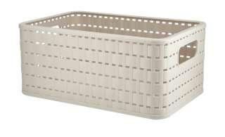 Aufbewahrungsbox ¦ beige ¦ Kunststoff ¦ Maße (cm): B: 36,8 H: 27,8 T: 19,1 Regale > Regal-Aufbewahrungsboxen - Höffner