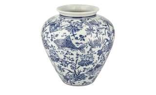 Vase ¦ blau ¦ Porzellan ¦ Maße (cm): H: 19,5 Ø: 19 Dekoration > Vasen - Höffner