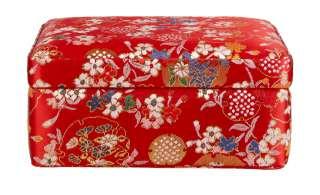 Aufbewahrungsbox ¦ rot ¦ Polyester, MDF ¦ Maße (cm): B: 16 H: 7,5 T: 12,5 Regale > Regal-Aufbewahrungsboxen - Höffner