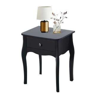 Barock Design Nachttisch in Schwarz 45 cm breit