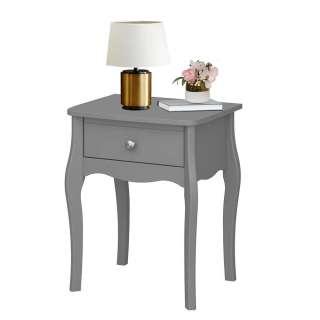 Barock Design Nachtkommode in Grau einer Schublade