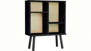 Karup Design Regal »Kyabi«, Vierbeiniger Schrank mit zwei verstellbaren Regalen und einem Tatami-Look auf der Rückseite