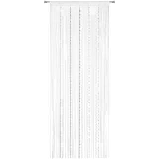 FADENSTORE  Silberfarben, Weiß  90/245 cm