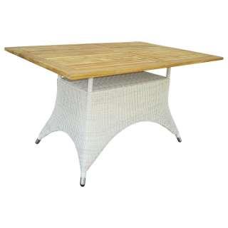GARTENTISCH Holz, Metall, Kunststoff Weiß, Alufarben, Teakfarben