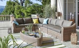 a casa mia Loungegruppe   Piemont ¦ braun ¦ Aluminium pulverbeschichtet/ PE-Geflecht Garten > Gartenmöbel > Gartenmöbel Sets - Höffner