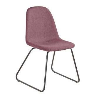 Stühle in Rosa Webstoff Metallbügeln (2er Set)