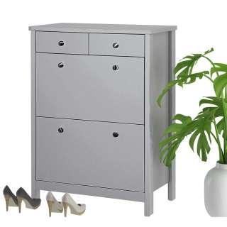 Garderobenschuhschrank in Grau 80 cm breit