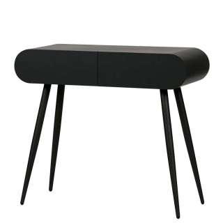 Konsolen Tisch in Schwarz 90 cm breit