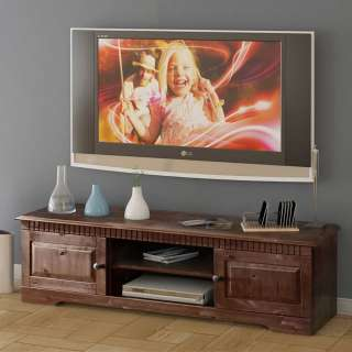TV Unterschrank in Wengefarben Kiefer Massivholz