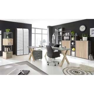 Bettliege Flexa Harmony mit Gästebett, Schreibtisch, Drehstuhl, Nordic Blue,