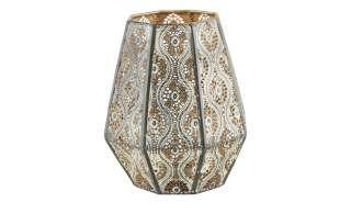 Windlicht mit Glaseinsatz ¦ gold ¦ Metall, Glas  ¦ Maße (cm): H: 20,5 Ø: 17 Dekoration > Laternen & Windlichter - Höffner