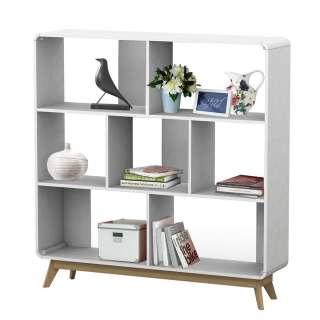 Bücher Regal in Weiß Skandi Design