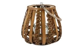 Windlicht ¦ braun ¦ Glas , Holz, Metall ¦ Maße (cm): H: 19 Ø: 21 Dekoration > Laternen & Windlichter - Höffner